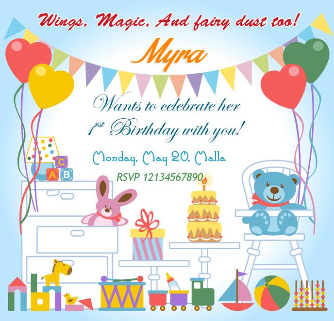 Birthday invitation cards birthday wishes design birthday party children birthday party invitation card design stopboris Gallery